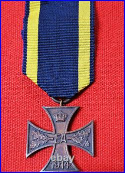 Rare Ww1 Era Brunswick War Merit Cross Germany Medal 2nd Class