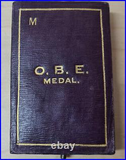 Rare Ww1 Era Medal Of The Order Of The British Empire (military) In Case Obe