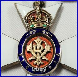 Rare Ww1 Ww2 British Royal Victorian Order Neck Badge & Star #1153 Medal Kcvo