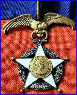 Rare Ww1 & Ww2 Era Republic Of Chile Order Merit Grand Officer Grade Medal Badge