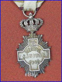 Romanian Romania WW2 Red Cross Medal Order Badge