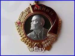 Russian WW2 Medal Lenin Gold Platinum Soviet Military Order #188645