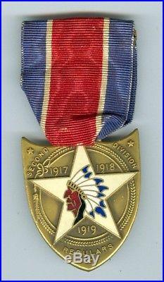 Scarce Ww1 Usmc 2nd Division Medal Named