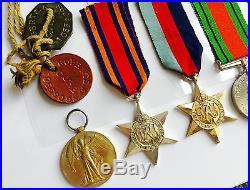 Set of World War I & II Medals, Tags & Certificates Belonging to Same Soldier