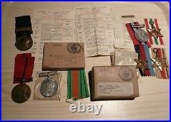 Smith family medals. Grandfather & Father Metropolitan police. Son R. A. F WW2
