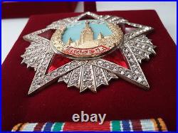 Soviet Russian Highest Award Ww2 Order Of Victory 1945. Swarovski Crystals Copy