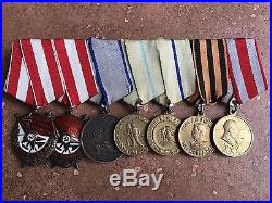Soviet Russian Medal Bar Double Red Banner World War II Two