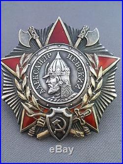 Soviet Russian Ww2 Medal Order Of Alexander Nevsky World War Medals
