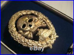 Tank fight medal of WW I Juncker rare original badge of German soldier