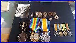 Two World War 1 Medals To Capt L. M. Woodland & 4 Miniature Medals & St. John Railw
