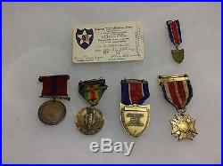 USMC WW1 Original 6th Marines AEF Vet's Medal Grouping