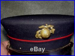 USMC WWI WW1Dress Blue Cover Good Conduct & Victory Medal Named & Numbered