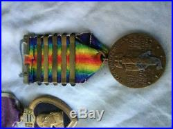 US Army WW1 service Medals lot of 9 pieces from 3rd infantry division