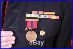 US WW2 To Korea USMC Marine Corps Named Dress Blues With Medals & EGA's Nice