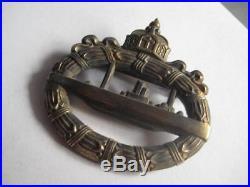 U Boot submarine WW I award rare badge medal of German Reichsmarine Kriegsmarine