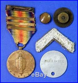 United States World War 1 Victory Medal Silver Star Device 3 Bar Dog Tag Y8025