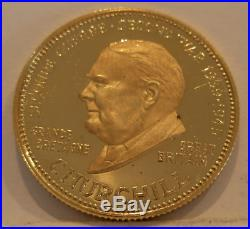Venezuela 1958 Gold Medal World War II Issue Churchill of Great Britain