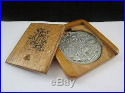 Very Rare First World War Douglas Isle Of Man German POW Medal In Wooden Box
