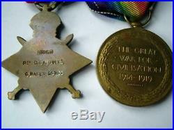 Victoria South Africa QSA Boer war & WW1 trio medals Baldwin Hants Rg Winchester