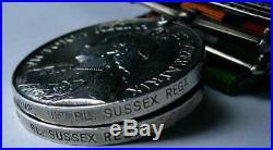 Victorian India QSA KSA LSGC MSM WW1 Afghan medal Captain Kemp Sussex Rgt + S&T