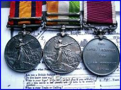 Victorian QSA KSA WW1 MSM WW2 medal group Sgt Hatherley Dragoon Guards late ASC