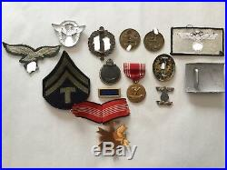 Vintage Collectible WW2 Medals & Badges USA & Germany Rare