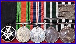 Vintage & Rare Order Of St John & Ww2 British Navy Sick Berth Medal Group Hunter