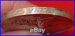 Vintage & Rare Pre Ww1 British Boer War Service Medal Captain New Zealand Rifles
