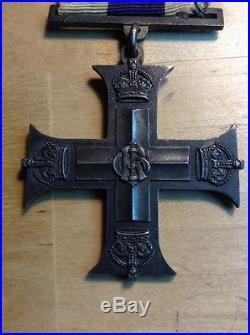 Vintage UK British Military Medal for Bravery & WW1 Brit Cross Medal