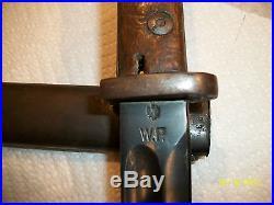 Vintage WW -2 Polish Bayonet and medal scabbard By Perkun very clean