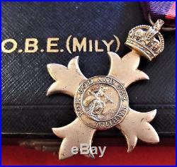 Vintage Ww1 British Order The British Empire Military 1919 Medal Cased Obe