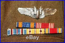 World War II Grouping. 4 Pocket Jacket With Insignia. Named Air Medal