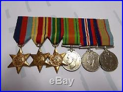Ww11 Aif Australian Army Medal Group Nx21516 B Russel 2/3 Anti Aircraft Regiment