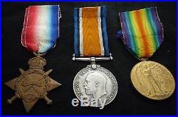 Ww1 1914-15 Star Medal Trio Kia 1st Day Battle Of The Somme 17th Highland LI