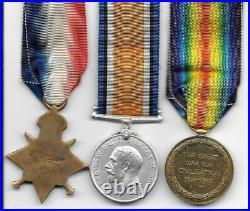 WW1 1914-15 Star Medal Trio Private Joseph Tudbury Grenadier Guards + Plaque