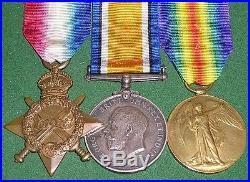 WW1 1914-15 TRIO OF MEDALS, PTE SMITH, 8th INFANTRY & 4th SOUTH AFRICAN INFANTRY