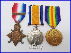 WW1 1914 Mons Star Medal Trio Pte. James, North Somerset Yeomanry #64