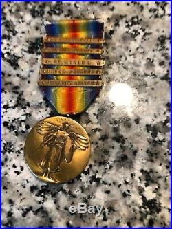 WW1 5 Bar Victory Medal Attributed To The 42nd Division