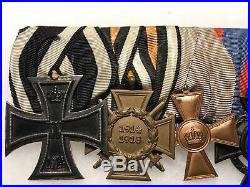 WW1 5-Place Imperial German Medal Bar Iron Cross Pin/Badge/Award/Decoration