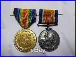 Ww1 Aif Anzac Australian Medal Pair 5595 Pte A. Lynch 19th Btn K. I. A 1918 France