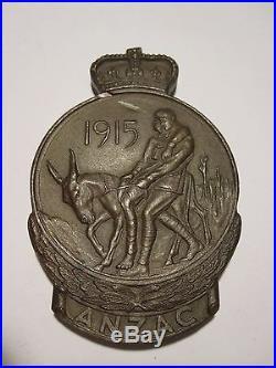 WW1 Australian ANZAC Commemorative Medallion / medal. Tasmanian M. M winner