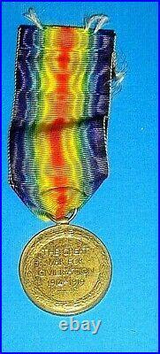 WW1 Australian Victory Medal Named 3408 PTE. H. BORRELL 16th BN AIF