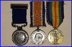 WW1 British BEF John Newton Bronze Royal Humane Victory & War Medals