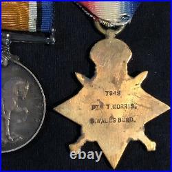 WW1 British Medal Group Machine Gun Corp Wales Reg
