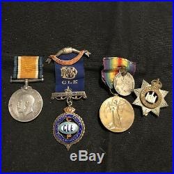 WW1 British Medal Grouping Devon Regiment