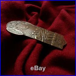 WW1 Bronze Statue Medal Warrior Hungary Turkey Ottoman Bulgaria Austria Army Gun