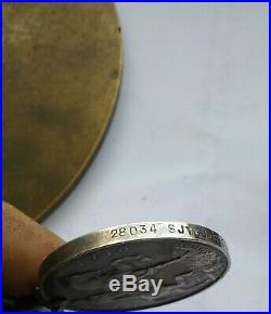 WW1 Casualty Death Plaque and Pair Serjt John Clarkson 7th Bn Borders Reg Medals