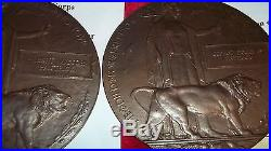 Ww1 Death Plaques And Medal To Three Brothers