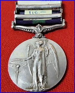 WW1 GENERAL SERVICE MEDAL IRAQ & N. W. PERSIA. PTE McDONELL ROYAL IRISH FUSILIERS