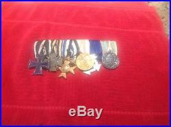 WW1 German 6 Place Medal Bar Grouping Iron Cross